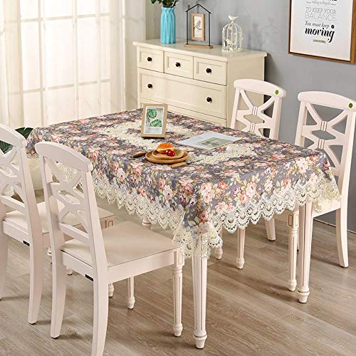 MIDUO - Mantel de mesa, diseño de lunares, color gris, 80 x 270 cm