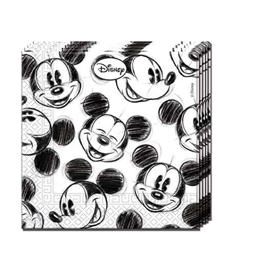 PROCOS PR82740 Mickey Faces - Servilletas de papel (33 x 33 cm, 25 unidades)
