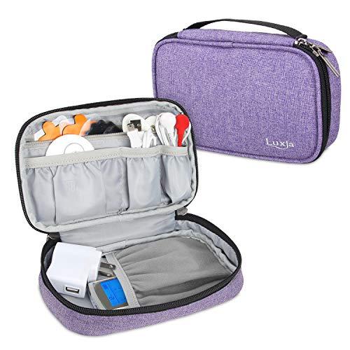 Tasche für Prorelax 39263 TENS + EMS Duo, Tragetasche für Elektrostimulationsgerät TENS (Nur leeres Gehäuse und passt für die meisten Marken), Lila