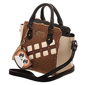 bioworld Women's Star Wars The Last Jedi Episode 8 Chewie Handbag with Mini Porg Coin Purse