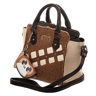 bioworld Women's Star Wars The Last Jedi Episode 8 Chewie Handbag with Mini Porg Coin Purse