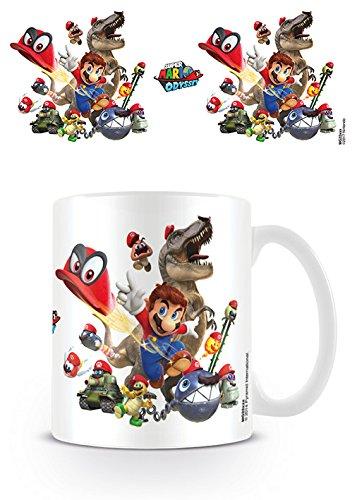 Nintendo Super Mario Odyssey Cap Montage Coffee Mug Kaffeetassen, Keramik, Mehrfarbig, 7.9 x 11 x 9.3 cm