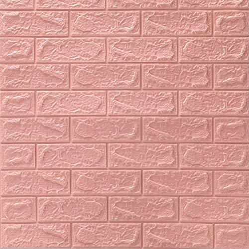 Riding' times 12 piezas 3D papel pintado 77 x 70 cm autoadhesivo de ladrillo pared adhesivos paneles impermeables espuma PE...
