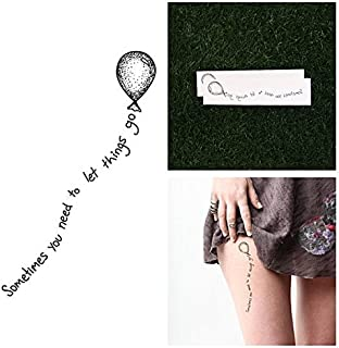 Temporary Tattoo Quote (Set of 2)