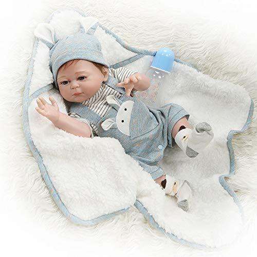 iCradle Bambola del Bambino rinato 20 Pollici Bambole del Vinile del Silicone del Corpo Completo Ragazza Ragazzo Gemelli Bambola 50cm realistica Giocattoli del Bambino Bebe Reborn realistica (Boy)
