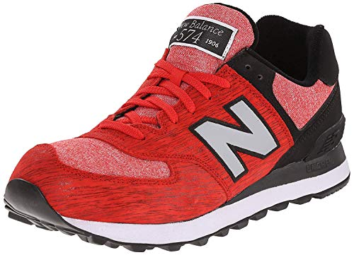 Zapatillas de deporte para hombre New Balance Ml574D, de perfil bajo, color Rojo, talla 4.5 UK