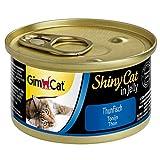 GimCat ShinyCat in Jelly Thunfisch - Nassfutter mit Fisch und Taurin für Katzen - 24 Dosen (24 x 70 g)