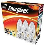 Energizer Lot de 3 ampoules halogènes écologiques SES E14 à petit culot à vis - Blanc chaud - 30...