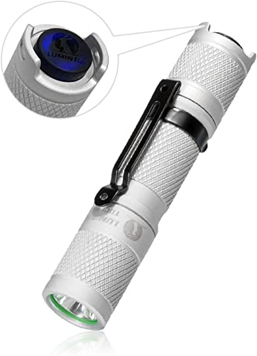 LUMINTOP Tool AA 2.0 White LED Torch Super Bright 650 Lumens Pocket-Sized Small Keyring EDC Flashlight, 5 Modes with ...