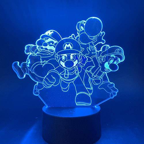 Lámpara de ilusión 3D Dragón de luz nocturna LED para decoración de dormitorio de niños Sensor táctil Los mejores regalos de vacaciones de cumpleaños para niños
