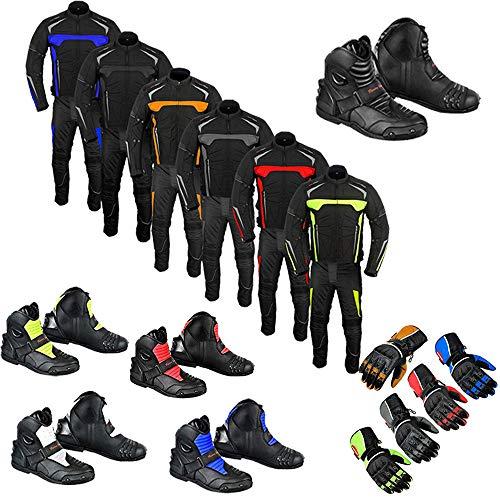 Chaqueta impermeable para motocicleta, zapatos de turismo, ropa, pantalones, botas de motocicleta con guante, 2 piezas para hombres