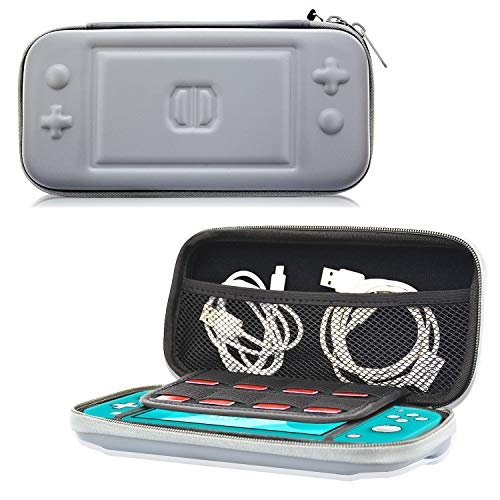 ACdream Carrying Case for New Switch Lite 2019 Release, Protective Travel Carrying Pouch Bag for Small Nintendo Switch Lite 5.5 inch, 8 Game Cards Console & Accessories, Gray