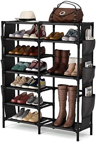 7 Tiers Shoe Rack 24 30 Pairs Shoe Storage Organizer Non woven Shoe Shelf Boots Organizer product image