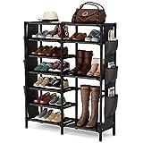 Tribesigns 7 Tiers Shoe Rack 24-30 Pairs Shoe Storage Organizer Non-Woven Shoe Shelf Boots Organizer