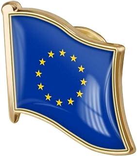 1pc República De Moldova Euro Flag Pin Del Esmalte Del Metal Pin De La Solapa De La Bandera De La Broche De La República D...