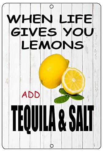 Rogue River Tactical Grappig wanneer het leven geeft u citroenen Teken Metalen Tin Teken Thuis BAr Keuken Toevoegen Tequila & Zout