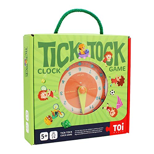ANIKI TOYS Tell The Time Clock Learning Toy Teaching Kids How to Make Time Table Chart Children Calendar Education Game Watch Learning Game Help 5 6 7 8 Years Children to Learn Time
