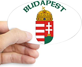 CafePress Budapest, Hungary Coat of Arm Oval Sticker Oval Bumper Sticker, Euro Oval Car Decal