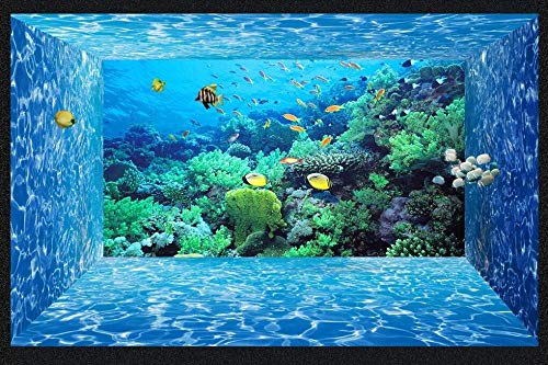 Fototapete Wallpaper Living Room Marine World Creature Coral Aquarium Wall Painting Photography Background Large Mural Home Decor-350Cmx245Cm