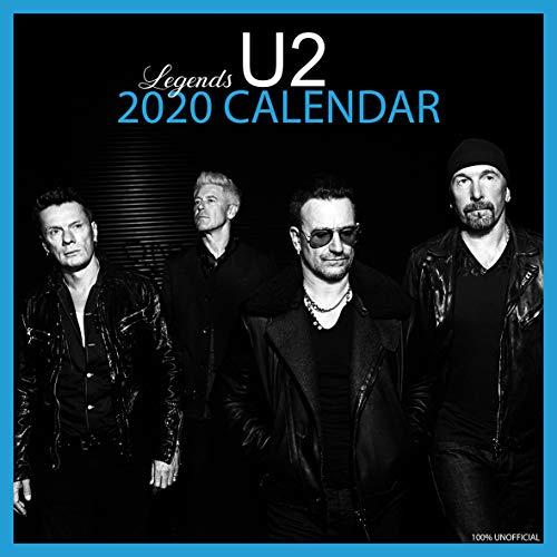 U2 2020 Wandkalender, quadratisch, 30,5 x 30,5 cm, mit gratis Poster, das perfekte Geburtstags- oder Weihnachtsgeschenk