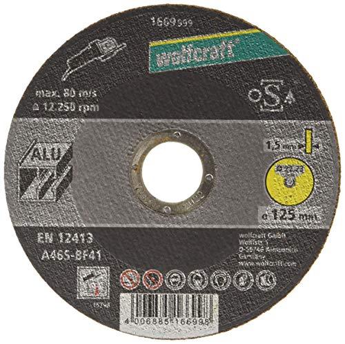 wolfcraft 1669999 Trennscheibe für Aluminium Ø 125mm, extra dünn
