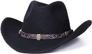 テンガロンハット ダークブラウンダコタクラッシュウールフェルトウェスタンカウボーイカジュアルハット Cowboy Hat