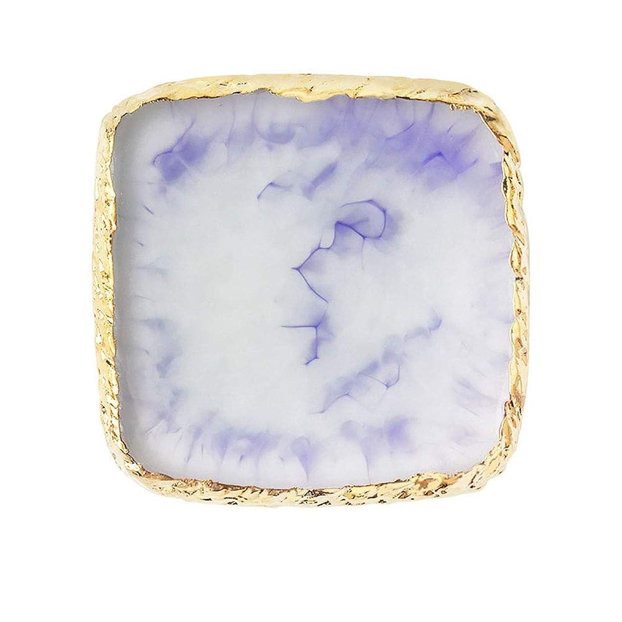 ルーフプレゼンテーション絶滅させるネイルアートパレット FidgetFidget 天然樹脂ストーンネイルアートカラーパレットアクリルゲルポリッシュホルダー図面カラーペイントディッシュ接着パレットディスプレイ 2#紫