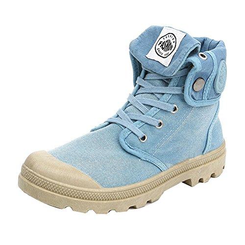 hibote Network technology Ltd hibote Damen Outdoor High Stiefel Combat Boots Multifunktions-Wüste Wanderschuhe Leinenschuhe Canvasschuhe Sneaker