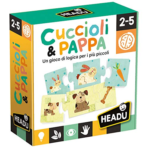 Headu- Cuccioli & Pappa Juego, Multicolor, 3 (IT20058)
