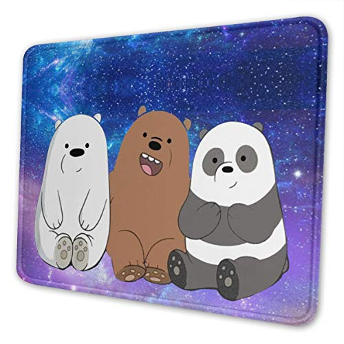 Marrh Cool We Bare Bears Mouse Pad Pattern Mousepad Non-Slip Rubber Gaming Mouse Pad Rectangle Mouse Pads for Computers Laptop10 X 12 Inch