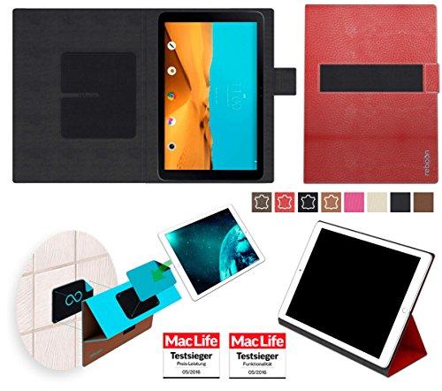 reboon Hülle für LG G Pad II 10.1 Tasche Cover Case Bumper | in Rot Leder | Testsieger