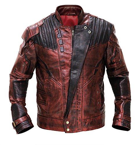 LP-FACON Cazadora de piel de disfraz de Guardians of Galaxy 2 Star Lord (Chris Pratt)