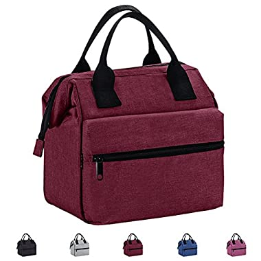 Srise Lunch Box Insulated Lunch Bag For Men &Women Meal Prep Lunch Tote Boxes For Kids & Adults(Wine Red)