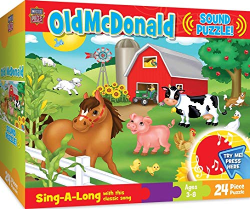 MasterPieces 11310 Sing-A-Long Old McDonald - 24 Piece Kids Puzzle with 30 Second Sound Chip