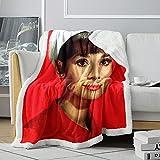 Manta de sofá de Vacaciones Romana Sherpa AudreyHepburn con patrón 3D, Manta de Lanzamiento de Actriz británica, Manta de Cordero mullida para Chico, 120x150cm