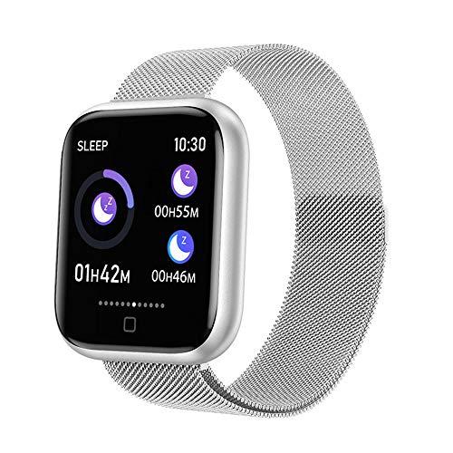 DUTUI Sportuhr, Multisportmodus-Kalorienverbrauchsuhr wasserdichte Bluetooth-Uhr, angenehm zu tragen,Weiß