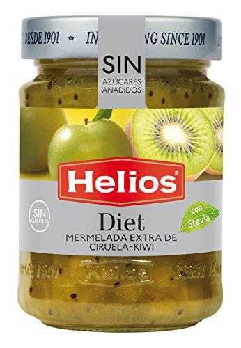 Helios Mermelada Dieta Ciruela y Kiwi - 280 gr - [Pack de 4]
