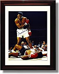 Framed Muhammad Ali Autograph Print Product Overview