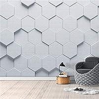 Djskhf 現代の抽象的な3Dステレオジオメトリ壁画壁紙リビングルームテレビソファ寝室の背景壁画シンプルな家の装飾フレスコ画 200X140Cm