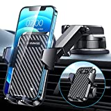 [2021 Upgraded] VANMASS Car Dashboard Phone Holder Mount [Super Suction Cup] Compatible for iPhone 13 Pro Max 12 11 X Xr Xs 8 7 Plus Mini Se Universal Cell Phone Windshield Vent Handsfree Cradle Stand