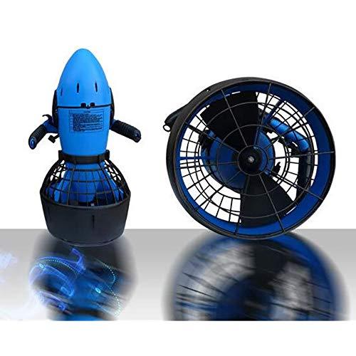 ZUEN Scooter de Agua Propulsor de Agua Motor de 300 vatios Fuertes 30 M Profundidad máxima de Buceo Deportes acuáticos Equipo Sumergible,Blue
