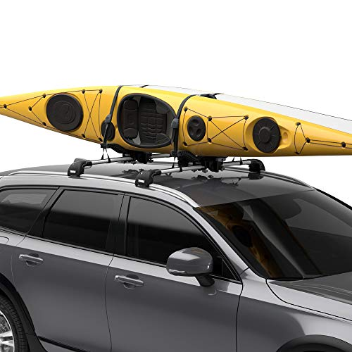 Thule Compass Kayak and SUP Carrier, BLACK, 2 Kayaks/SUPs (890000)