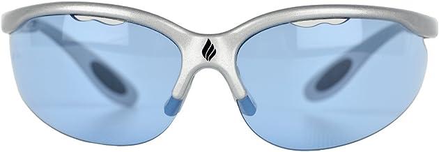 Ektelon More Game Air Racquetball Eyewear-Silver/Blue Lenses