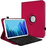 KARYLAX - Funda de protección y modo soporte horizontal para tablet Excelvan QT, color rosa fucsia