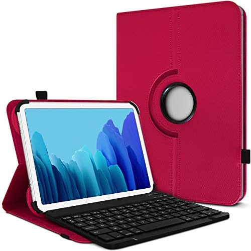Karylax - Funda de protección y modo soporte horizontal con teclado francés Azerty Bluetooth para tablet Lenovo Yoga Tab 3 Pro de 10 pulgadas, color rosa fucsia