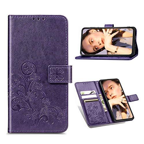 Easyshow Brieftasche Hülle Kompatibel mit Samsung Galaxy A32 4G, Faltbare Leder Handyhülle, Flip Wallet Schutzhülle mit Kartensteckplatz für Samsung Galaxy A32 4G-Lila