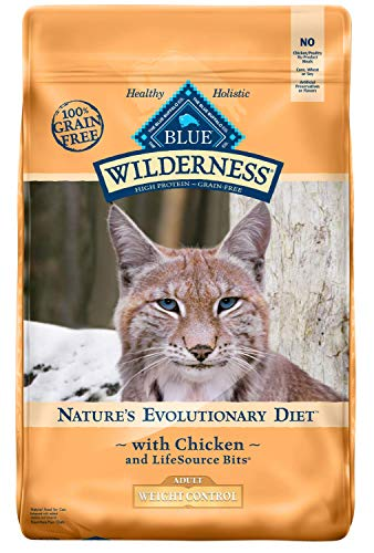Blue Buffalo Wilderness High Protein Grain Free Natural Adult Weight Control Dry Cat Food, Chicken 11-lb