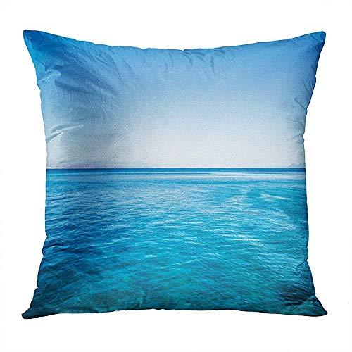 Kissenbezug Idyllisch Beruhigend Einfacher Hintergrund Bali Beach Schöne Schönheit Blau Weicher Kissenbezug