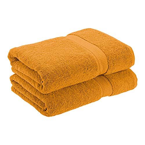 Superior Toallas de baño de lujo de 900 g/m², hechas de algodón peinado de larga calidad, juego de 2 toallas de baño de calidad de hotel y spa, oxidadas, 76 x 139 cm cada una