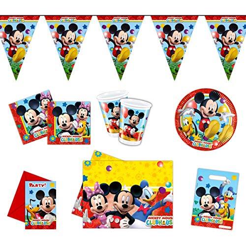 Folat Micky Maus Partypaket Disney 50-teilig Kinder Geburtstag Kinderparty